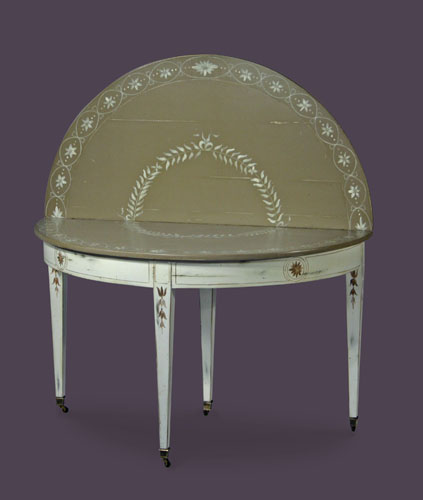 Table demi lune atelier de brou for Table de cuisine demi lune